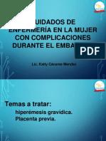 CUIDADOS DE ENFERMERÍA EN LA MUJER CON COMPLICACIONES DURANTE EL EMBARAZO