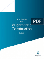 Pr9789 - Specification for Auger Boring