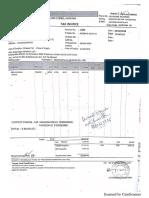 Invoice of Conduit