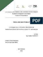 Contributii La Studiul Proceselor Termodinamice Din Instalatiile Cu Absorbtie Teza_Vasilescu_Catalina