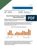Third Quarter 2018 GDP