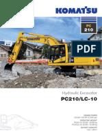 Specificatii Tehnice Excavatoare Pe Senile Komatsu PC210