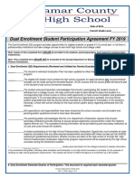 2019 Dual Enrollment Student Participation Agreement