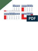 Calendario 2020 Una Pagina