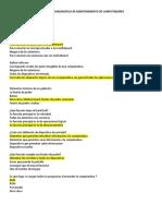 Evaluación Diagnostica Mantenimiento de PC