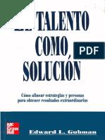 El Talento Como Solucion