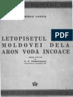 Miron Costin - Letopisețul Țării Moldovei Dela Aron Vodă Încoace