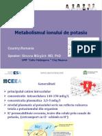 Simona Margarit - Metabolismul ionului de potasiu