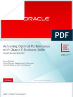 Achieving Optimal Performance From Oracle e Business Suite