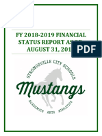 Strongsville City Schools (Ohio) year end financial status report dated Aug. 31st