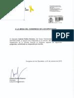 Preguntas de ERC sobre la noticia de 'Público' respecto al alojamiento de Zoido en Madrid