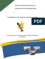 Cuadernillo de Trabajo CURSO de INDUCCION