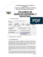 Syllabus Notarial 2018