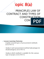 Topic 8a Principles Law of Contract and Types of Construction Contracts