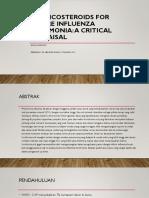Corticosteroids for Severe Influenza Pneumonia - PARU
