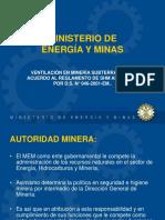 El Ministerio y Su Funcion en La Ventilacion Subterranea