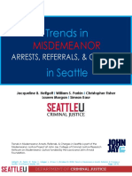 Trends in Misdemeanors Seattle