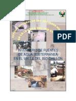 Inventario de Fuentes de Agua Subterránea en El Valle Del Río Chillón