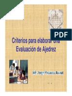 Criterios Para Evaluar en Ajedrez
