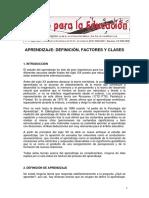 APRENDIZAJE DEFINICIÓN, FACTORES Y CLASES.pdf