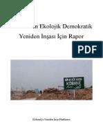 Kobani'nin Ekolojik Demokratik Yeniden İnşası İçin Rapor