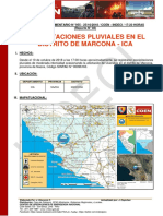 Precipitaciones Pluviales en El Distrito de Marcona - Ica