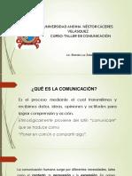 Diapositivas Taller de Comunicación