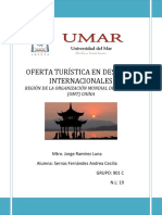 DESTINOS INTERNACIONALES OMT CHINA