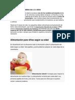 Alimentacion de Niños de 6 a 5 Años