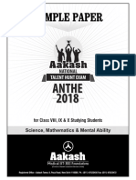 Anthe Sample Paper 2018