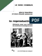 Pierre Bourdieu, Jean-Claude Passeron-La Reproduction _ Éléments d'Une Théorie Du Système d'Enseignement-Editions de Minuit (1970) (1)