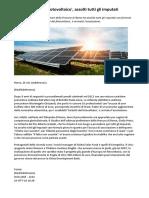 Energia 'Truffa Del Fotovoltaico', Assolti Tutti Gli Imputati