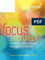 2018 UPCEA Marketing and Enrollment Management Seminar Program