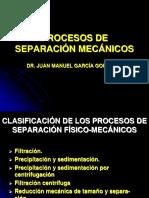 Procesos de Separacion Mecanicos