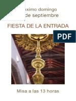 Cartel Fiesta de la Entrada