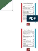 single page menu