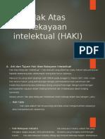 Hak Atas Kekayaan Intelektual (HAKI)