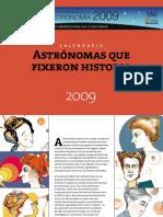 Calendario  Astronomas Que Fixeron Historia
