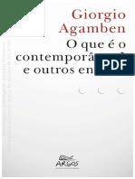 Giorgio Agamben_O Que é o Contemporâneo e Outros Ensaios