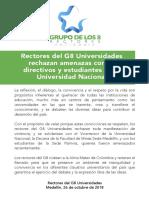 Comunicado G8 26 Octubre Prensa