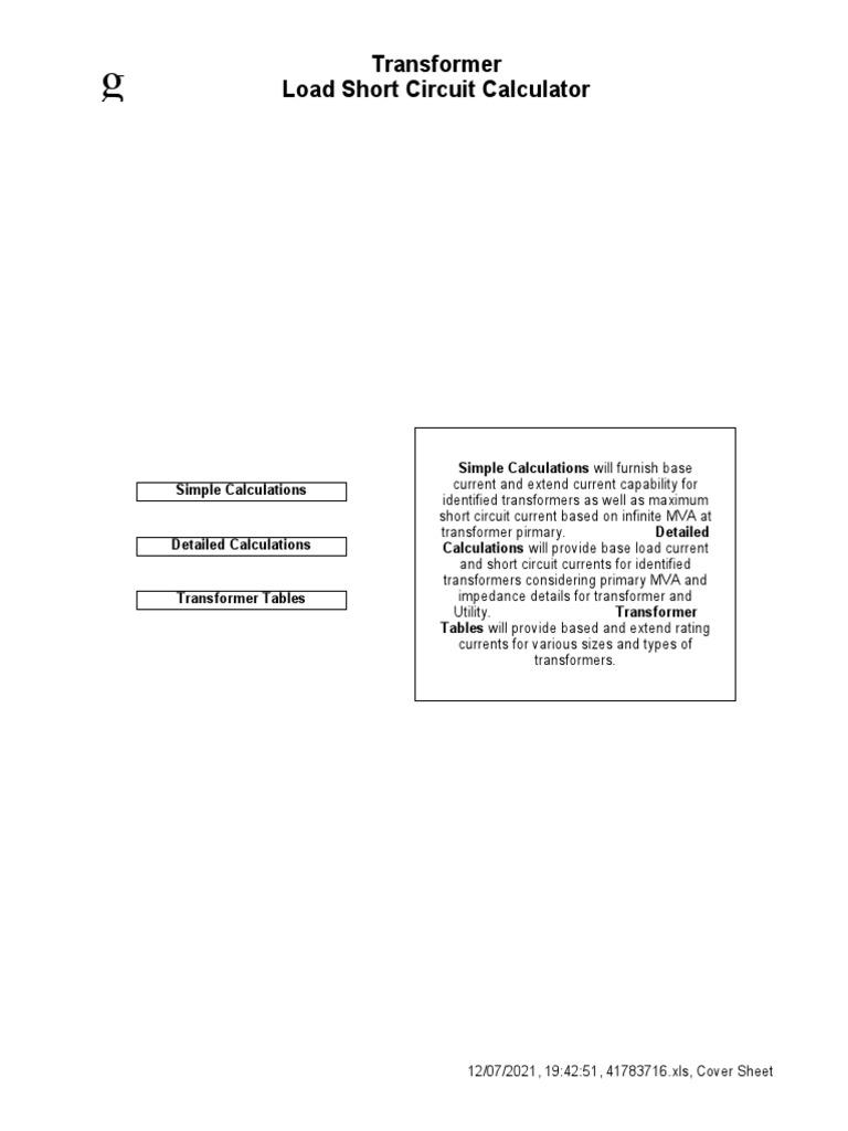 Final) | Transformer | Electrical Impedance