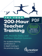 Taj Yoga Seattle 200-Hour Teacher Training Flyer With Michelle Befus and Kathleen Meehan Lorenzo