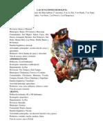 Las 36 Naciones Originarias de Bolivia