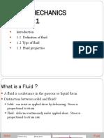 Fluid Mechanics Chapter 1