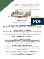 Programa Día Del Traductor 2018