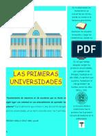 Las Primeras Universidades