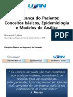 01. Segurana Do Paciente - Conceitos Bsicos Epidemiologia e Modelos de Anlis