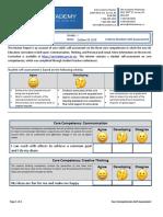 Grade 1 - Interim Self Assessment (Core Competencies) - Template (Fill-Able)