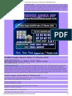 Prediksi Togel Jakarta Sabtu 27 Oktober 2018