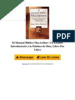 0718041690 El Manual Biblico Macarthur Un Estudio Introductorio a La Palabra de Dios Libro Por Libro by John f Macarthur